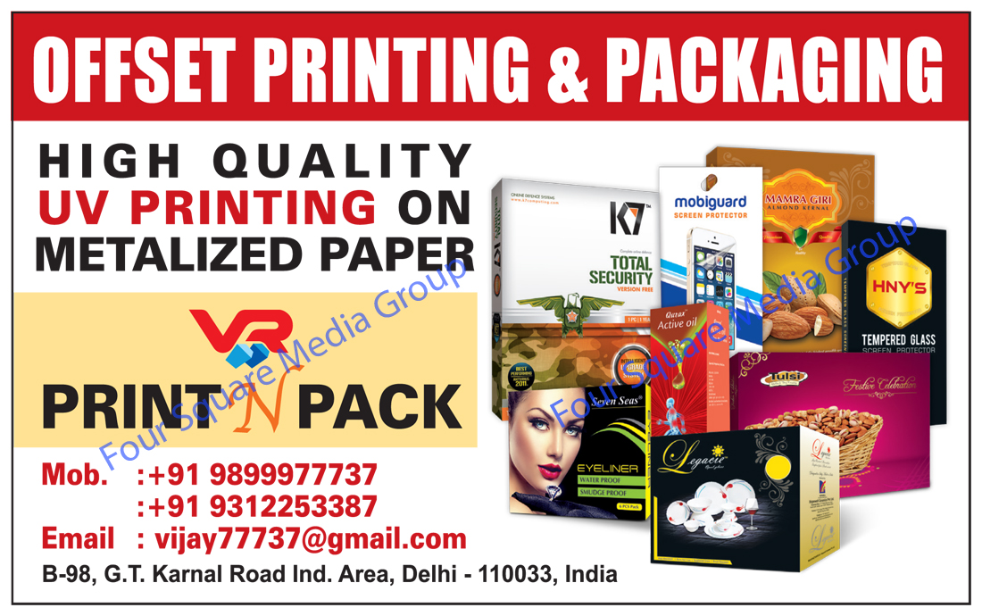 Offset Printing Services, UV Printing Service, Packaging Services