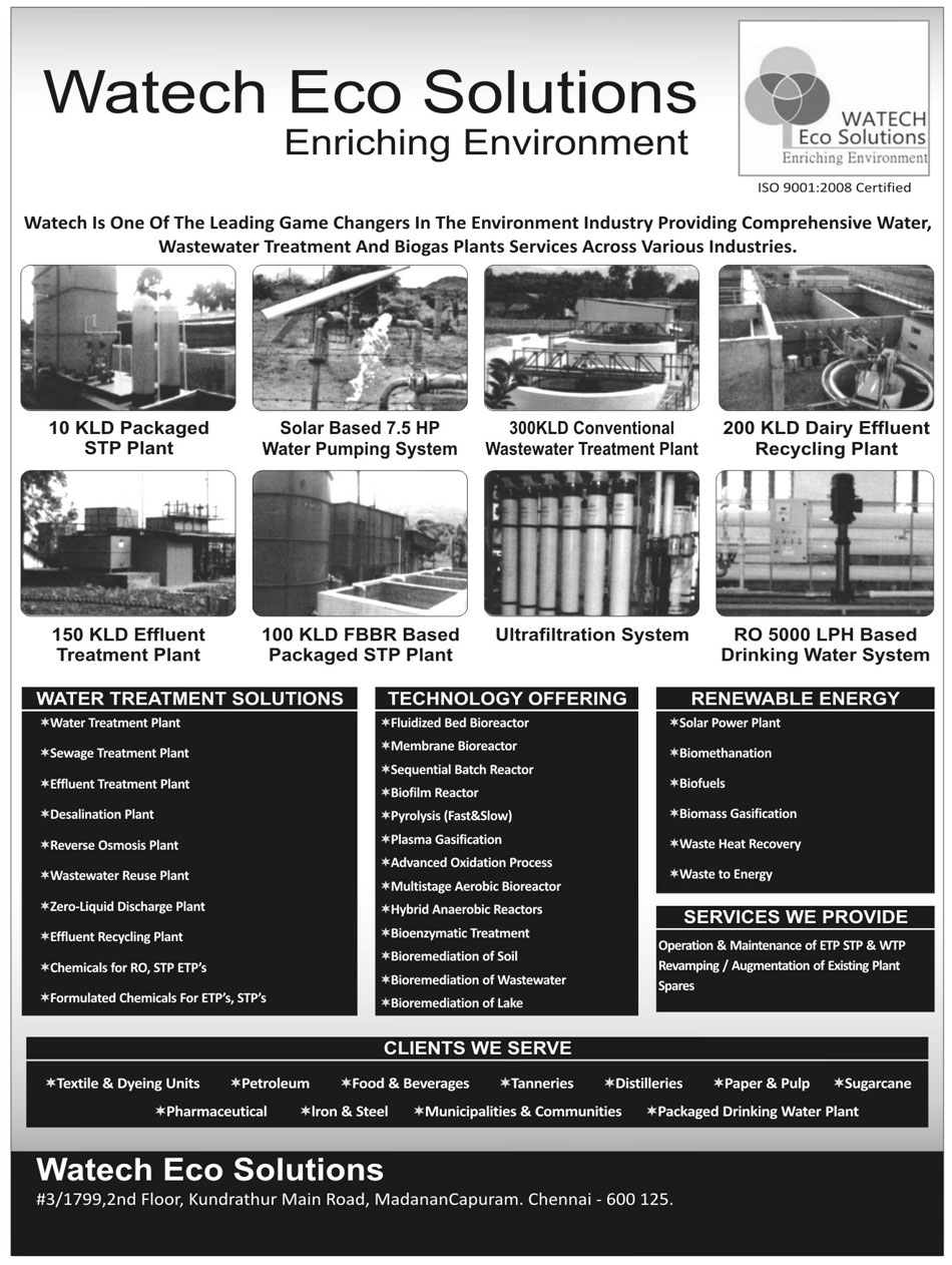 Water Treatment Plants, Wastewater Treatment Plants, Biogas Plant Services, STP Plant, Solar Based Water Pumping Systems, Dairy Effluent Recycling Plant, Effluent Treatment Plant, FBBR Based Packaged STP Plant, Ultrafiltration Systems, LPH Based Drinking Water Systems, Water Treatment Solutions, Sewage Treatment Plant, Desalination Plant, Reverse Osmosis Plant, Wastewater Reuse Plant, Zero Liquid Discharge Plant, RO Chemicals, STP Chemicals, ETP Chemicals, ETP Formulated Chemicals, STP Formulated Chemicals