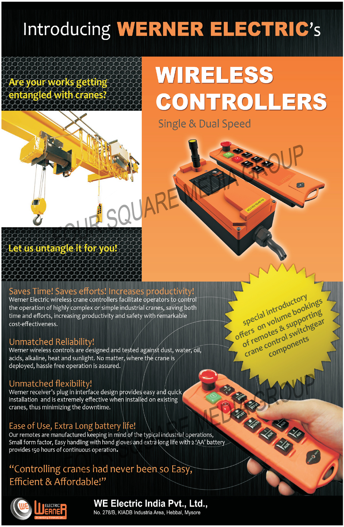 Interfaces Relay Modules, Interface Modules, Prefab Cables, Wireless Crane Controllers