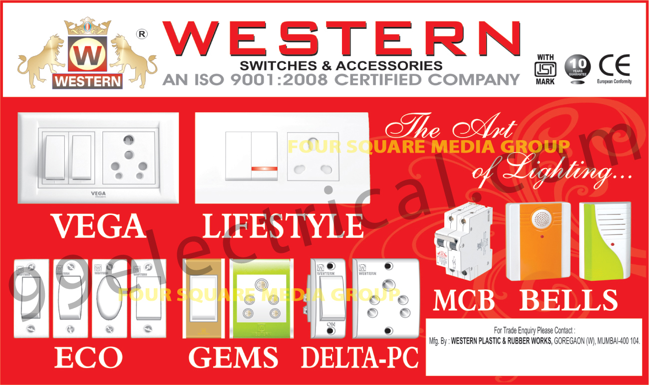 Electrical Switches | MCB | Bells | Electrical Products | Switches ...