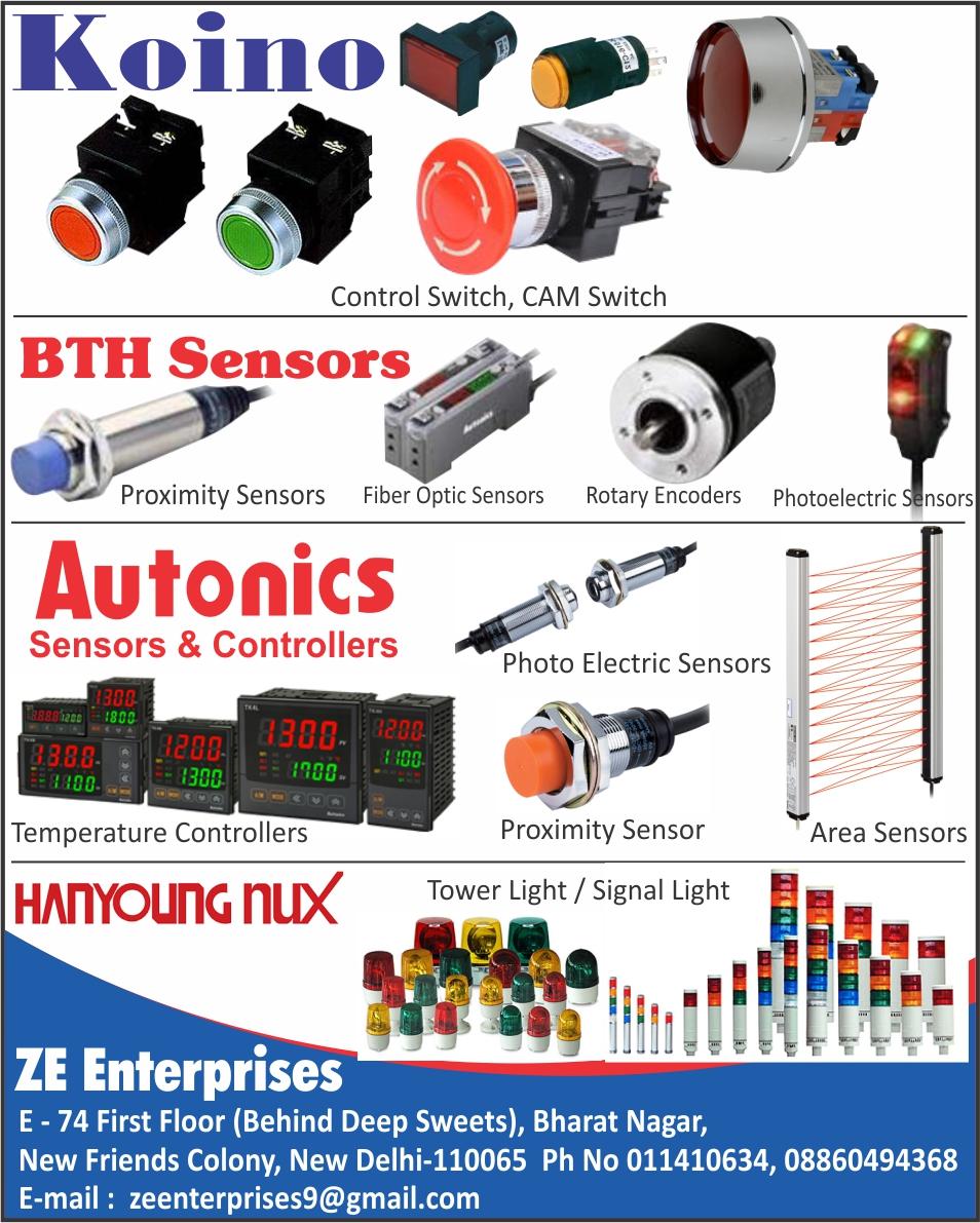 Control Switches, Cam Switches, Proximity Sensors, Fiber optic Sensors, Rotary Encoders, Photoelectric Sensors, Area Sensors, Temperature Controllers, Tower Lights, Signal Lights