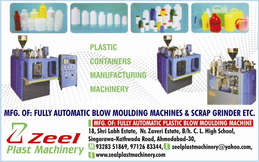 Plastic Container Machines, Blow Moulding Machines, Scrap Grinders, Plastic Blow Moulding Machines,Pesticides Bottle Machine, HDPE Bottle Machine, PVC Blow Moulding Machine, PP Blow Moulding Machines, Toys Blow Moulding Machines, Plastic Container Blow Moulding Machines