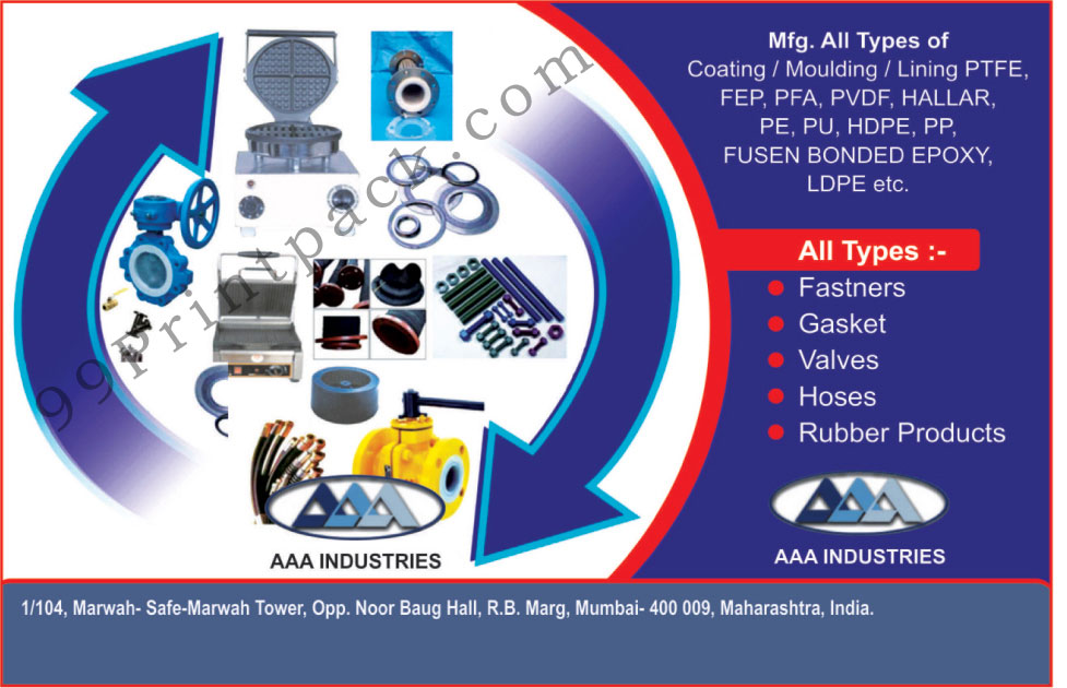 FEP Coatings, LEPE Coatings, PVDF Coatings, HDPE Coatings, FBE Coatings, PTFE Lining, PFA Lining, Fusen Bonded Epoxy, Fasteners, Gaskets, Hoses, Rubber Products, Valves, PTFE Coating, PTFE Moulding, PTFE Linings, FEP Mouldings, FEP Linings, PFA Coatings, PFA Mouldings, PFA Linings, PVDF Linings, PVDF Mouldings, HALLAR Coatings, HALLAR Mouldings, HALLAR Linings, PE Coatings, PE Linings, PE Mouldings, PU Coatings, PU Linings, PU Mouldings, HDPE Mouldings, HDPE Linings, PP Coatings, PP Linings, PP Mouldings, LDPE Coatings, LDPE Linings, LDPE Mouldings,Fastners, Coating PTFE, Moulding PTFE, Lining PTFE, PFA, PVDF Coating, Hallar, PE, PU, PP, Fusen Bonded Epoxy, Electrical Parts, Lining