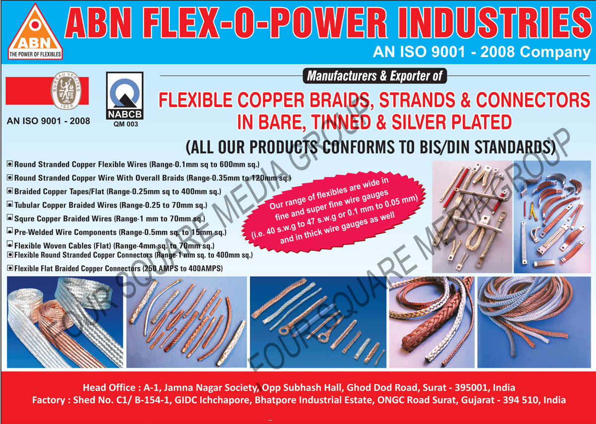 Round Stranded Copper Flexible Wires, Overall Braids Round Stranded Copper Wire, Braided Copper Tapes, Tubular Copper Braided Wires, Square Copper Braided Wires, Pre Welded Wire Components, Flexible Woven Flat Cables, Flexible Round Stranded Copper Connectors, Flexible Flat Braided Copper Connectors, Flexible Copper Braids, Flexible Copper Strands, Flexible Copper Connectors,Electrical Parts, Connectors, Copper Braids, Silver Plated, Cable Connectors, Cable Braids, Copper Cables, Flat Cables, Bare Copper Braids, Tinned Copper Braids, Silver Plated Copper Braids