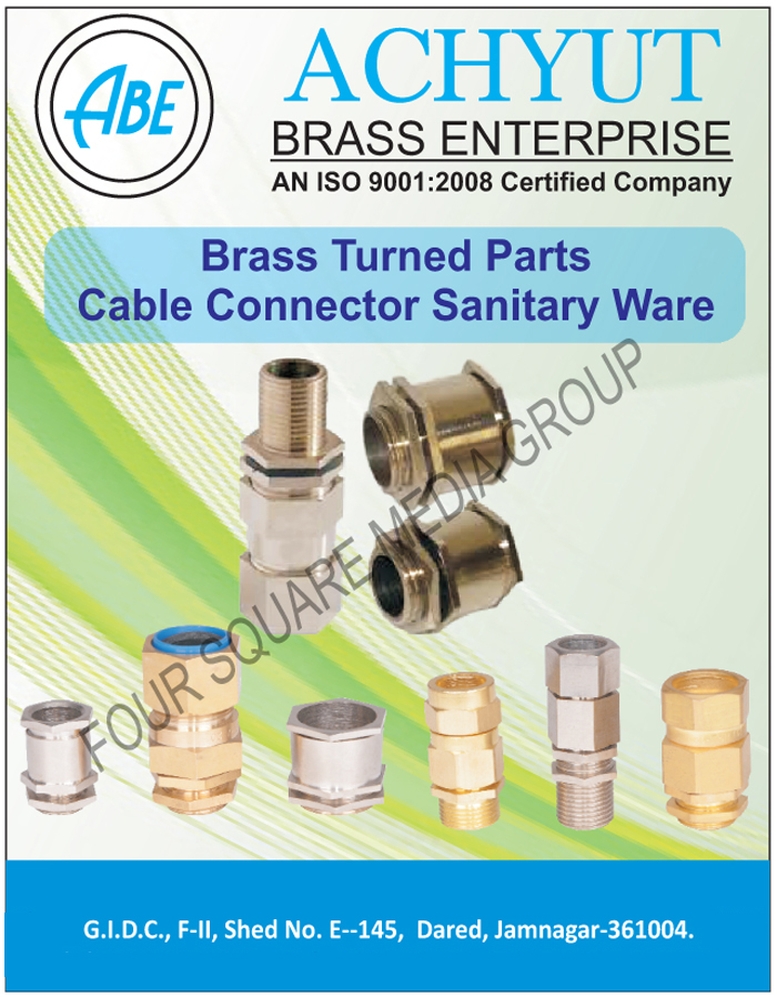 Brass Turned Components, Brass Cable Connectors, Brass Sanitary Wares, Brass Sanitary Fittings, Brass Sanitary Parts