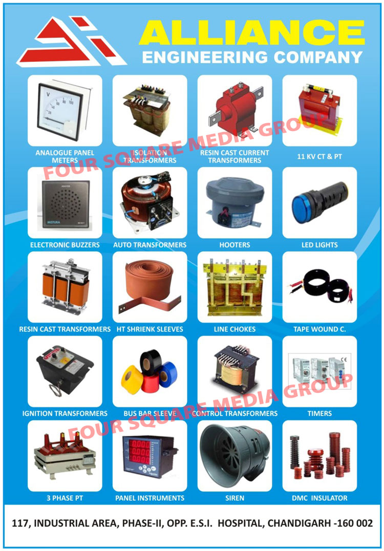 Ammeter, Volt Meters, HZ meters, Current Transformer Tape Wound, DC Shunts, Electronic Buzzer, hooters, Sirens, LED Panel Indicating Lights, Auto Transformer For Electrical Panels, Customized Control Transformer for Electrical panels, Control Panel Accessories, Weather Proof Junction Boxes, Resin Cast Current Transformers, Analogue Panel Meters, Isolation Transformers, CT Transformers, PT Transformers, Resin Cast Transformers, HT Shrink Sleeves, Line Chokes, Ignition Transformers, Bus Bar Sleeves, Timers, 3 Phase PT, 3 Phase Potential Transformers, Panel Instruments, DMC Insulators