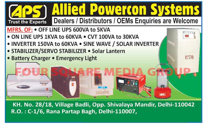 Online UPS, Inverters, Sine Wave Inverters, Solar Inverters, Stabilizers, Servo Stabilizers, Solar Lanterns, Battery Chargers, Emergency Lights,Inverter, Offline UPS, UPS