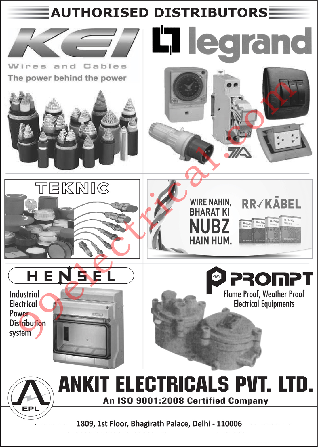 Electrical Wires, Electrical Cables, Industrial Power Distribution System, Electrical Power Distribution System, Flame Proof Electrical Equipments, Weather Proof Electrical Equipments,Electrical Panels, Electrical Products, Electrical Parts, Cables, Flame Proof Element Equipment, Power Distribution System, Switches, Wires, MCB, Relay, Lugs, Cable Lugs, Contactor, Socket Connectors, Connectors, Plug Connectors, Junction Boxes, Control Device, Signalling Devices, Earthing Material, Electrical Enclosures, Fuse, Household Switches, Switches