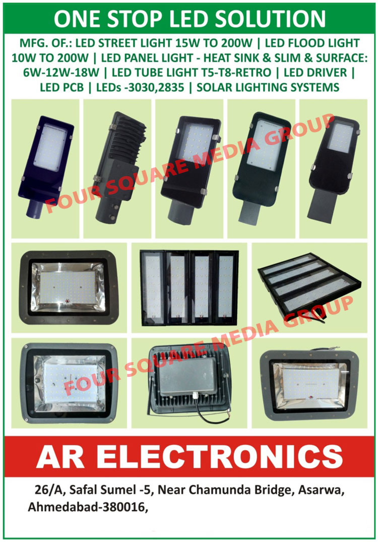 Led Lights, Led Street Lights, Led Flood Lights, Led Panel Lights, Heat Sink Led Panel Lights, Slim Led Panel Lights, Surface Led Panel Lights, Led Tube Lights, T5 Led Tube Lights, T8 Led Tube Lights, Retro Led Tube Lights, Led Drivers, Led PCB, Led Printed Circuit Board, Leds, Solar Lighting Systems
