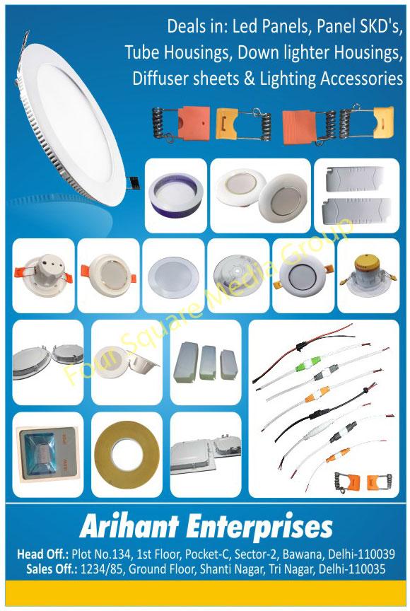 Led Lights, Led Panels, Led Bulbs, Led Housing, Tube Fitting Accessories, Panel SKD Form, Led Tube Housing, Down Lighter Housing, Diffuser Sheet, Lighting Accessory, Skds Panels