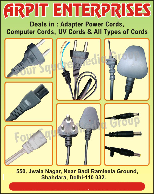 Cords, Adapter Power Cords, Computer Cords, UV Cords