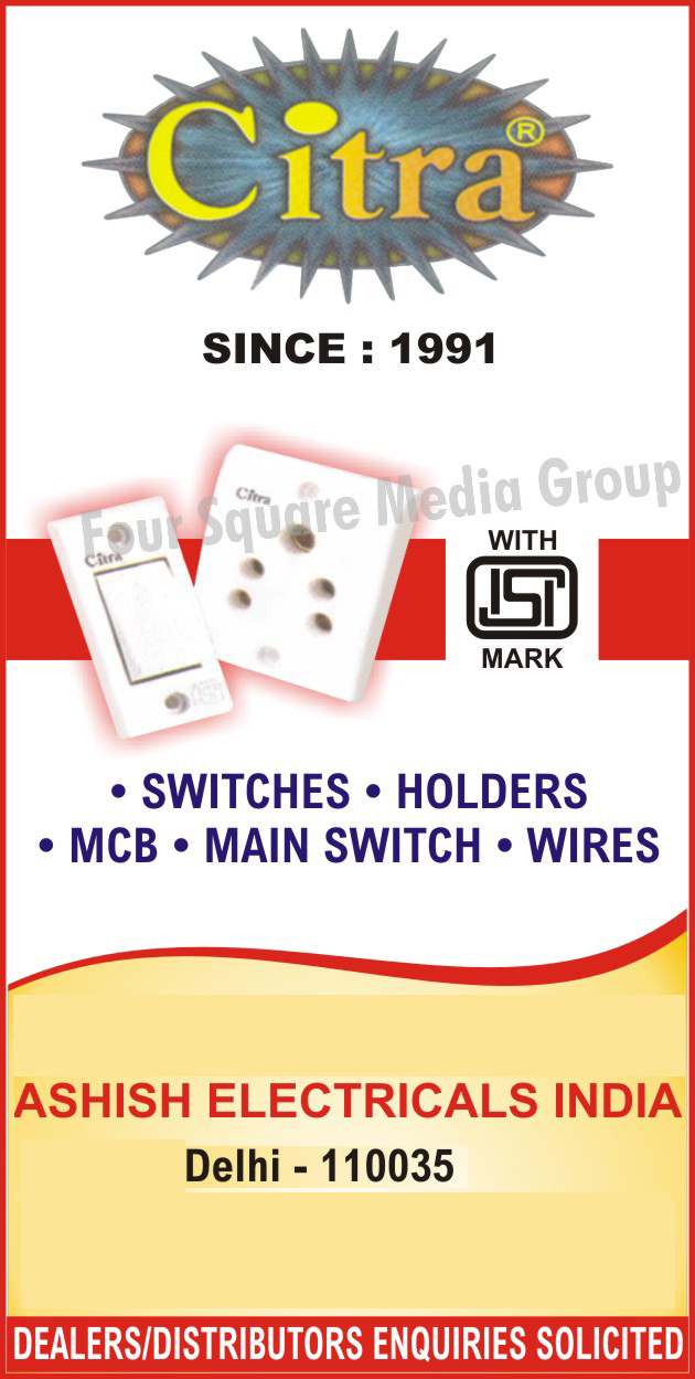 Electrical Items, Switches, Holders, MCB, Main Switch, Wires