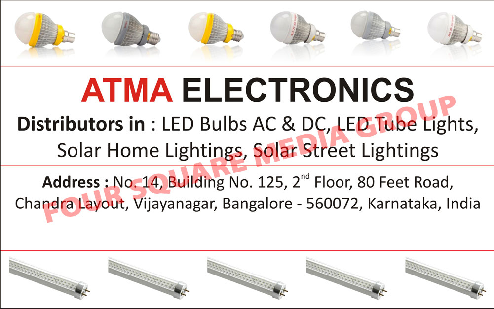 Led Lights, Led Bulbs, Led Tube Lights, Solar Home Lights, Solar Street Lights