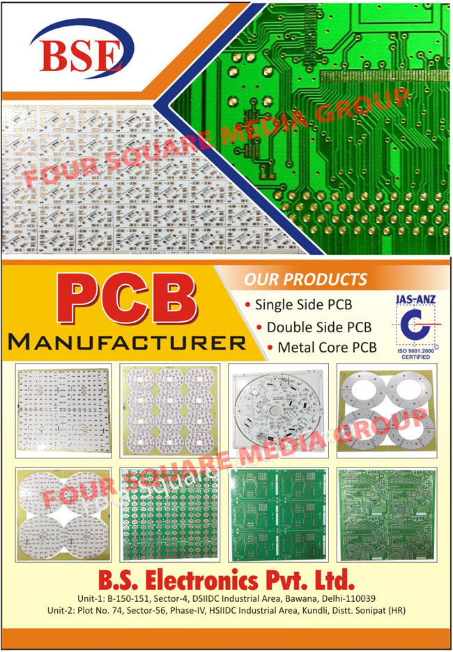 Single Side PCBs, Double Side PCBs, Metal Core PCBs, Printed Circuit Boards, PCB