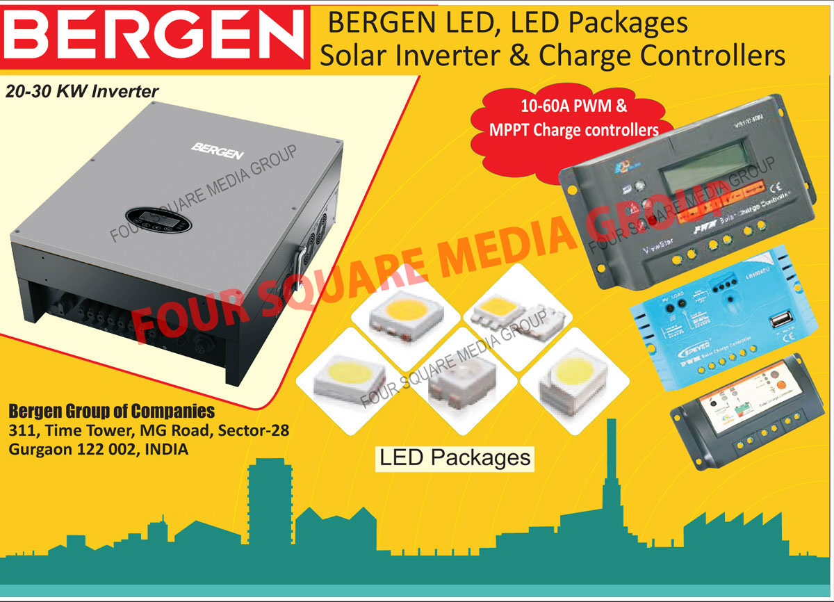Led Packages, Solar Inverters, Solar Charge Controllers, PWM Charge Controllers, MPPT Charge Controllers