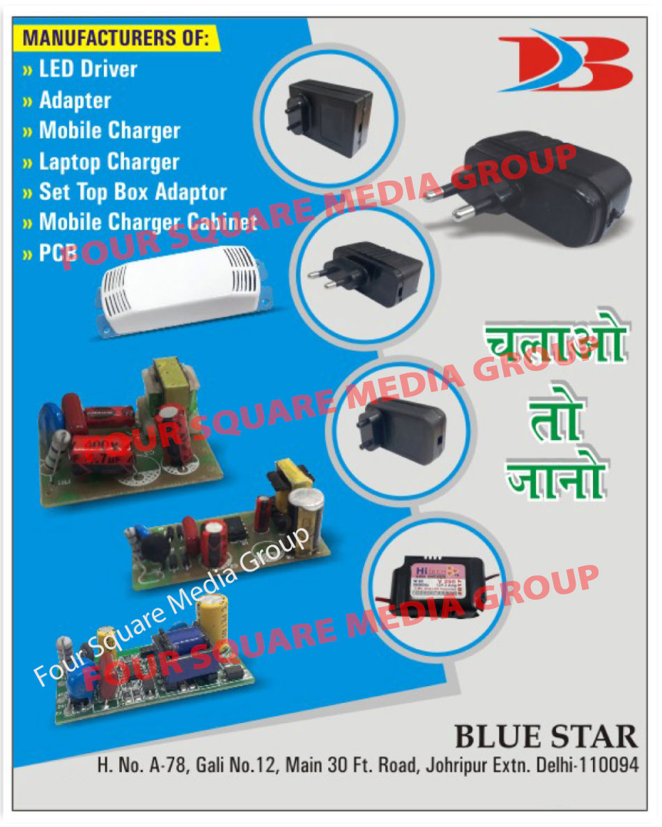 Led Drivers, Adapters, Mobile Chargers, Laptop Chargers, Set Top Box Adapters, Mobile Charger Cabinets, PCB, Printed Circuit Boards