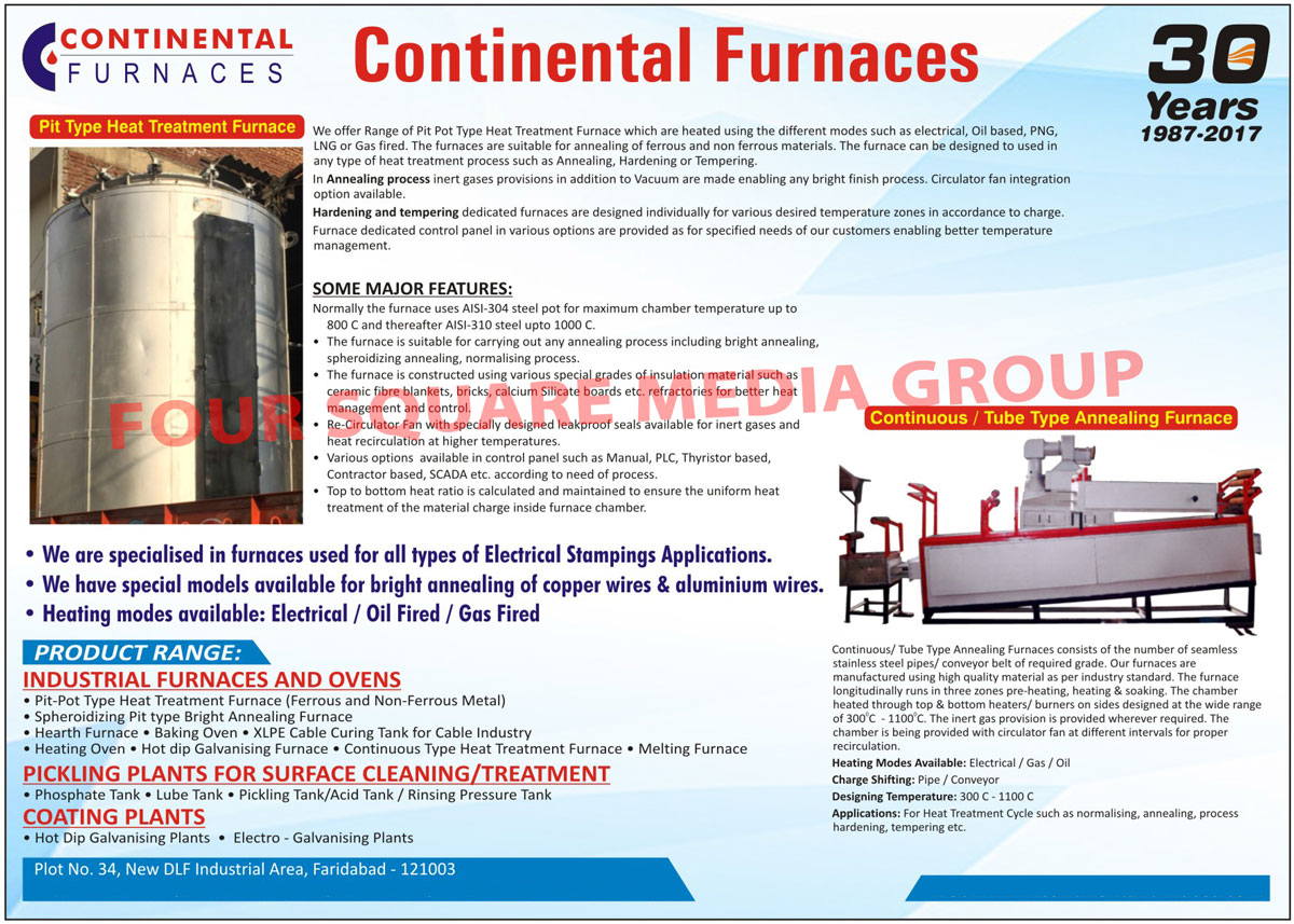Pit Type Heat Treatment Furnaces, Industrial Furnaces And Ovens, Pit Type Heat Treatment Furnaces, Pot Type Heat Treatment Furnaces, Spheroidizing Pit Type Bright Annealing Furnaces, Hearth Furnaces, Baking Ovens, XLPE Cable Curing Tank, Heating Ovens, Hot Dip Galvanising Furnaces, Continuous Type Heat Treatment Furnaces, Melting Furnaces, Pickling Plants, Phosphate Tanks, Lube Tanks, Pickling Tanks, Acid Tanks, Rinsing Pressure Tanks, Coating Plants, Hot Dip Galvanising Plants, Electro Galvanising Plants, Pit Pot Type Heat Treatment Furnaces, Continuous Type Annealing Furnaces, Tube Type Annealing Furnaces