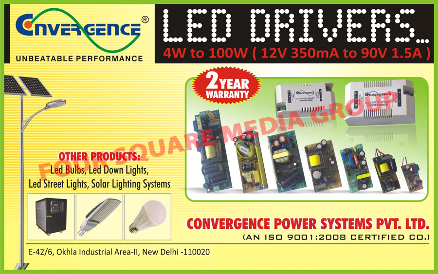 Led lights, Led Bulbs, Led Down Lights, Led Street Lights, Solar Light Systems, Led Drivers, Online Ups, On line Ups, Offline Ups, Off line Ups