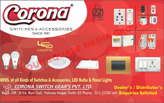 Led Bulbs, Led Panel Lights, Switches, Electrical Accessories, MCB, 5 Pin Sockets, Electrical Accessory, Led Street Lights, MCB Boxes, Wires, Cables
