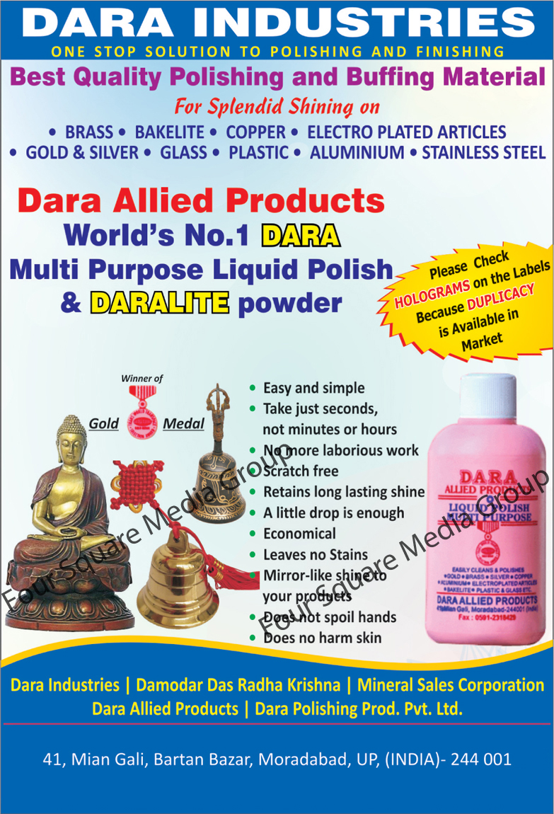 Daralite Powder | Liquid Polish | Polishing Material