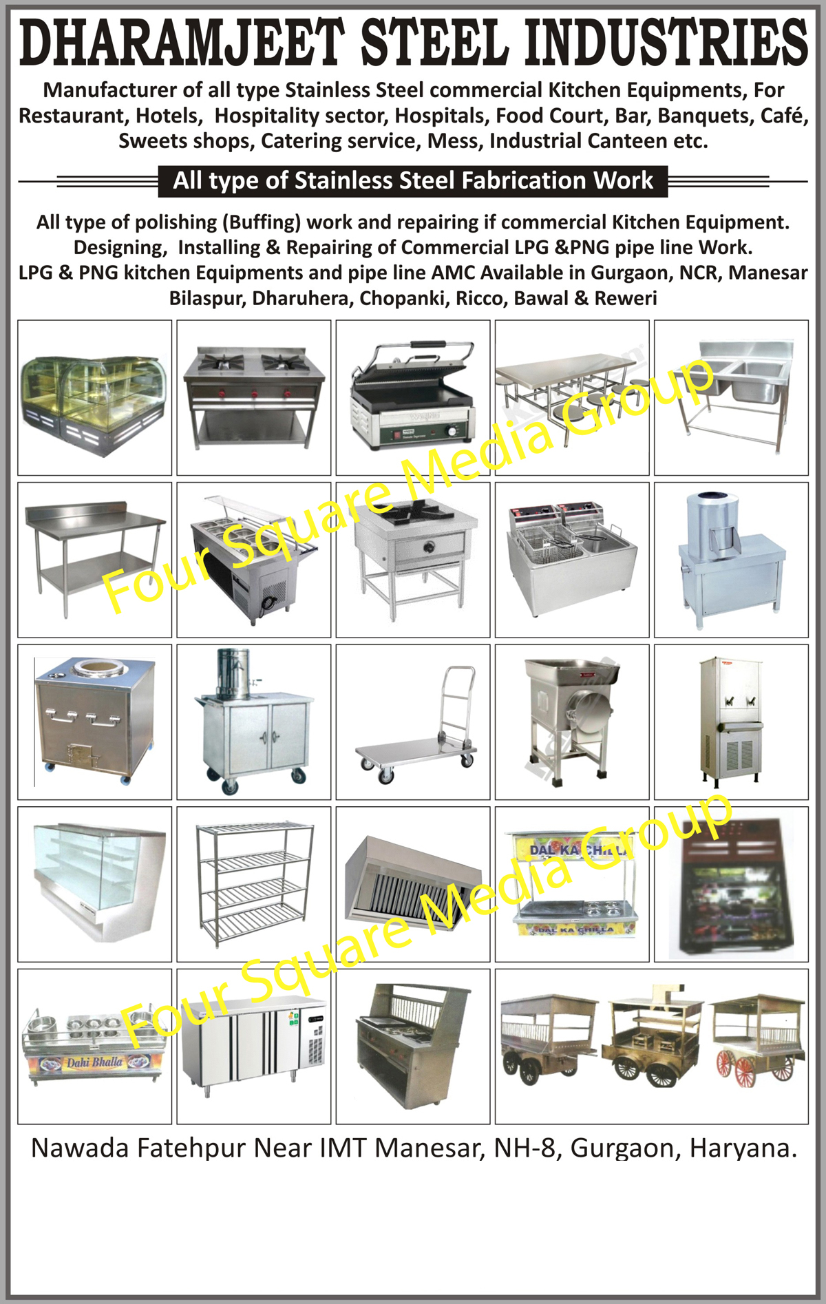 Stainless Steel Commercial Kitchen Equipments | SS