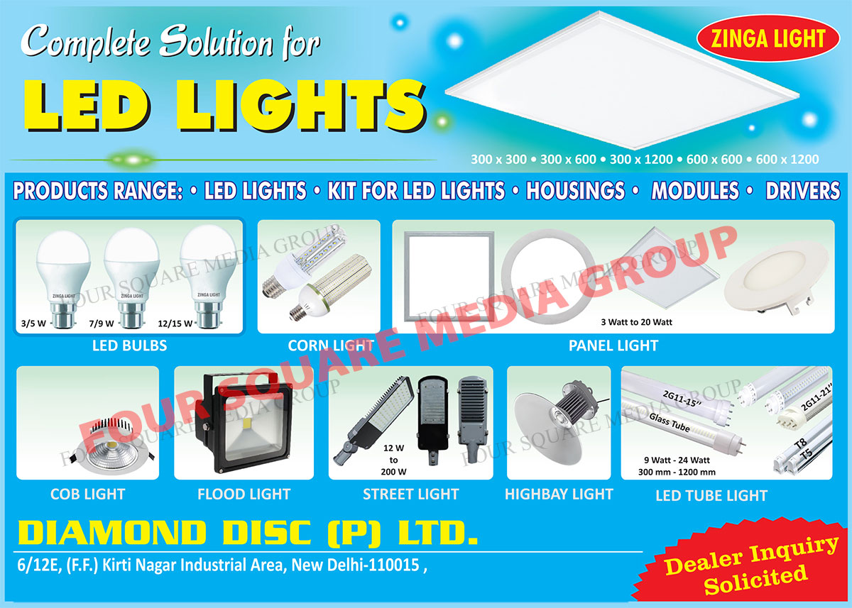 Led Lights, Kit For Led Lights, Led Housings, Led Modules, Led Drivers, Led Bulbs, Led Corn Lights, Led Panel Lights, Led COB Lights, Led Flood Lights, Led Street Lights, Led High bay Lights, Led Tube Lights