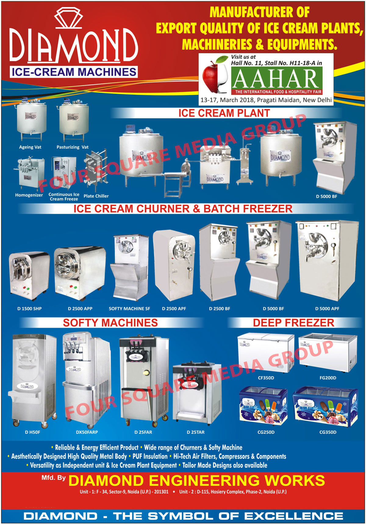 Softy Machines, Homogenizers, Continous Ice Cream Freezer, Churners, Softy Ice Cream Machines, Beater Fans, Wrought Iron, Candle Stand, Metal Handicrafts, Continuous Ice Cream Freezer, Ice Cream Machines, Ice Cream Plants, Ice Cream Equipments