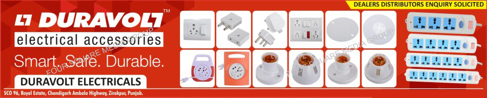 Three Pin Plugs, 3 Pin Plugs, Power Strips, Electrical Switches, Electrical Sockets, Electrical Accessories, Electrical Accessory, Door Bells, Spike Busters, Flex Boxes, Bulb Holders, 2 Pin Plugs, Two Pin Plugs
