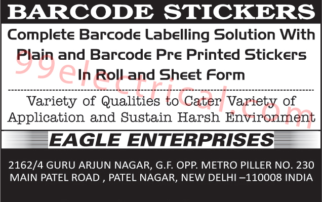 Barcode Stickers, Barcode Labelling, Barcode Pre Printed Stickers Roll Form, Barcode Pre Printed Stickers Sheet Form, Plain Stickers Roll Form, Plain Stickers Sheets Form