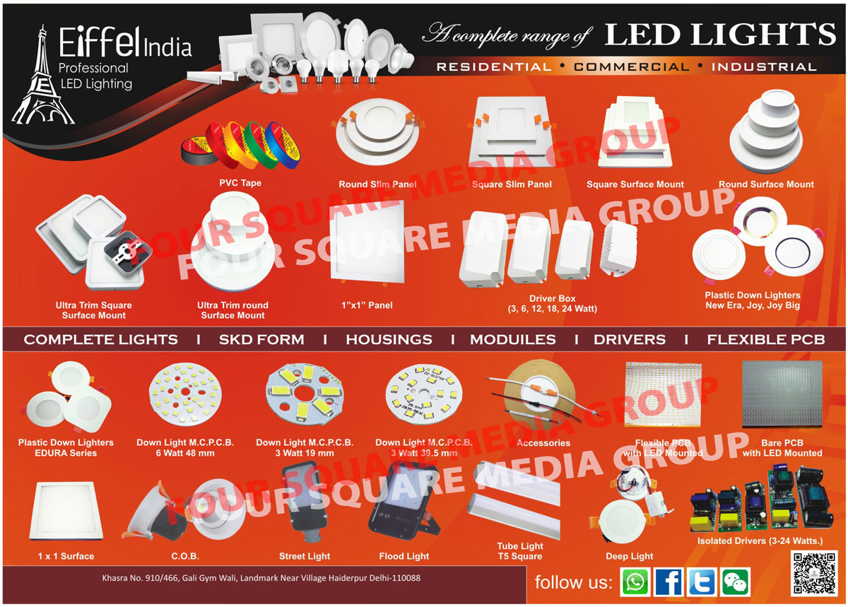 Led Lights, Residential Lights, Commercial Lights, Industrial Lights, Plastic Down Lighters, Down Light MCPCB, Down Light Accessories, Flexible PCB, Bare PCB, Surface Lights, COB Lights, Street Lights, Flood Lights, T5 Square Tube Lights, Deep Lights, Isolated Drivers, SKD Form Lights, Led Light Housings, Led Light Modules, PVC Tapes, Round Slim Panels, Slim Panels, Square Slim Panels, Square Surface Mount Lights, Surface Mount Lights, Round Surface Mount Lights, Ultra Trim Square Surface Mount Lights, Ultra Trim Round Surface Mount Lights, Led Panels, Led Panel Lights, Led Driver Boxes