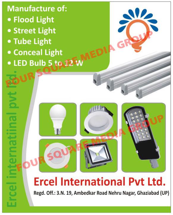 Led Lights, Flood Lights, Street Lights, Tube Lights, Conceal Lights, Led Bulbs