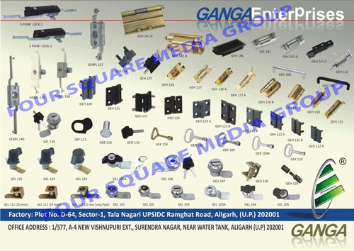 Electrical Panel Locks, Electrical Panel Accessories, Plastic Moulded Components, Plastic Moulded Steel Components, Plastic Mounded Zinc Components, Steel Zinc Components, Cam Locks, Tool Box Locks, Tublar Locks, Drawer Knobs, Cam Lock Keys, Ms Locks, Door Lock Hardware, Black Powder Coating Opening Angles, Die Cast Lift Off Hinges, Powder Coated Aluminium Angles, Die Casting Flat Hinges, Standard Cams, Concealed Hinges, Standard Cams, Heavy Duty Concealed Hinges, Die Cast Flat Hinges