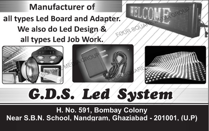 Led Boards, Adapters, Led Designing, Led Job Works