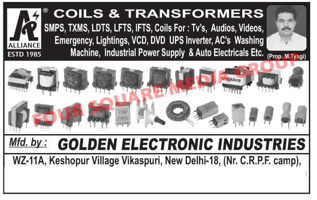 Coils, Transformers,SMPS, Auto Electrical Coils, Auto Electrical Transformers, Industrial Transformer