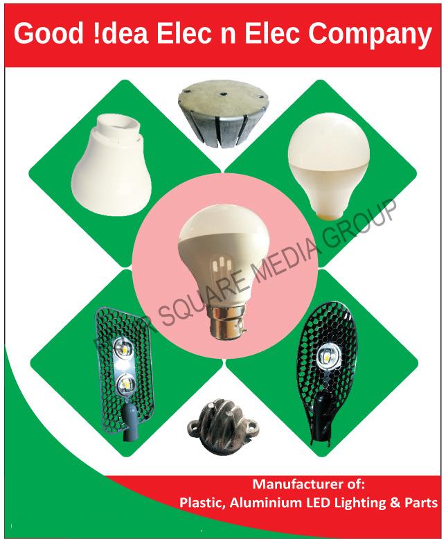 Led Light Plastic Parts, Led Light Aluminium Parts