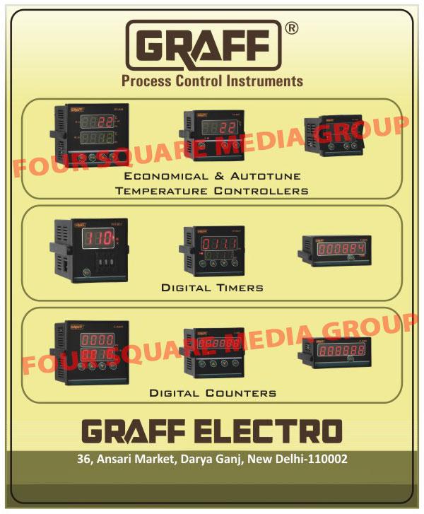 Process Control Instruments, Temperature Controllers, Digital Timers, Digital Counters