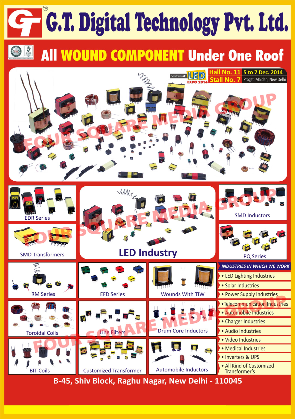Wound Components EDR Series, SMD Transformers, Wound Components RM Series, Toroidal Coils, BIT Coils, Wound Components EFD Series, Line Filters, Customized Transformers, Drum Core Inductors, Automotive Inductors, SMD Inductors, Wound Components PQ Series,Led Lighting Ferrite Transformers, Solar Lighting Ferrite Transformers, CFL Ferrite Transformers, Ballast Ferrite Transformers, Inductors, Transformer