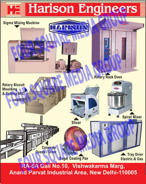 Food Mixing Machines, Rotary Rack Ovens, Rotary Biscuit Moulding Machines, Rotary Biscuit Cutting Machines, Slicers, Spiral Mixers, Conveyor Ovens, Conveyor Driers, Sugar Coating Pan, Electric Tray Driers, Electric Tray Dryers, Gas Tray Driers, Sigma Mixing Machines, Biscuit Moulding, Biscuit Cutting Machine, Mixers, Tray Driers, Biscuit Moulding Machines, Tray Drier Electric, Tray Drier Gas, Bread Slicers, Slicers
