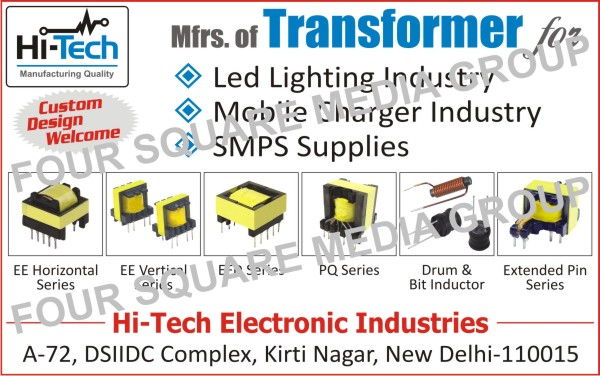 Led Lighting Transformers, Mobile Charger Transformers, SMPS Supply Transformers, EE Series Transformers, EFD Series Transformers, PQ Series Transformers, Drum Inductors, Bit Inductors, Extended Pin Series Transformers, Transformers