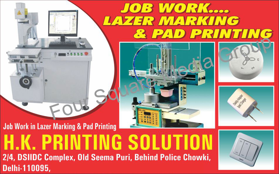 Lazer Marking Job Works, Pad Printing Job Works