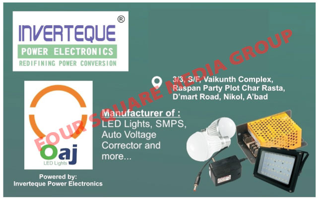 Led Lights, Led Bulbs, Led Street Lights, Led Flood Lights, CCTV SMPS, Auto Voltage Correctors, Adapters, SMPS Battery Chargers, SMPS Power Supply