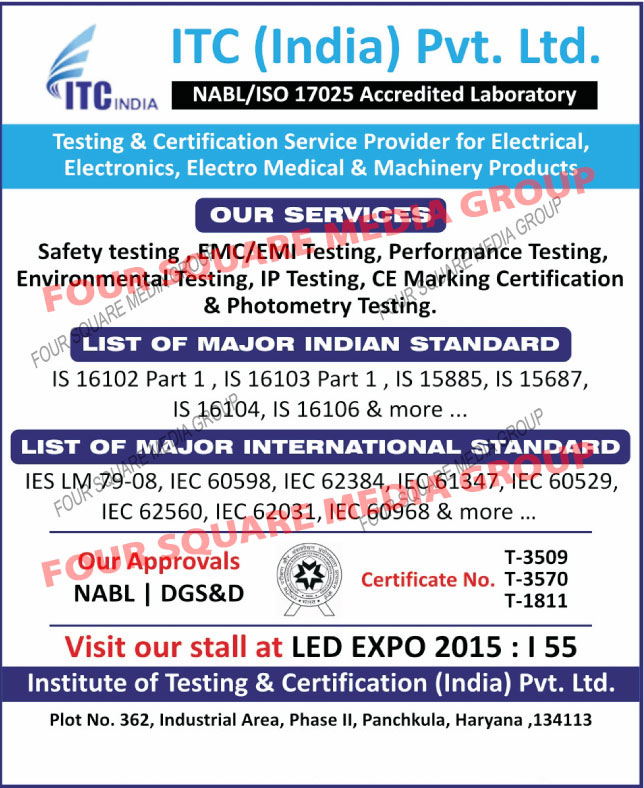 Electrical Testing Services, Electronics Testing Services,  Electro Medical Testing Services, Machinery Products Testing Services, Certification Service Provider for Electrical, Certification Service Provider for Electronics, Certification Service Provider for Electro Medical, Certification Service Provider for Machinery Products, Safety Testing Services, EMC Testing Services, EMI Testing Services, Performance Testing Services, Environmental Testing Services, IP Testing Services, CE Marketing Certification, Photometry Testing Services