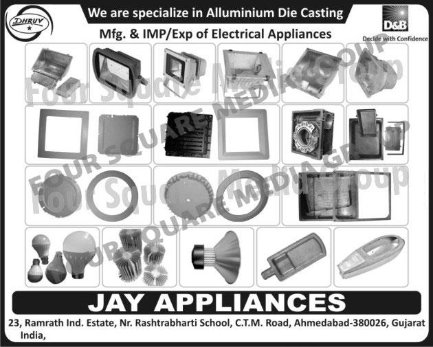Aluminum Die Castings, Electrical Appliances