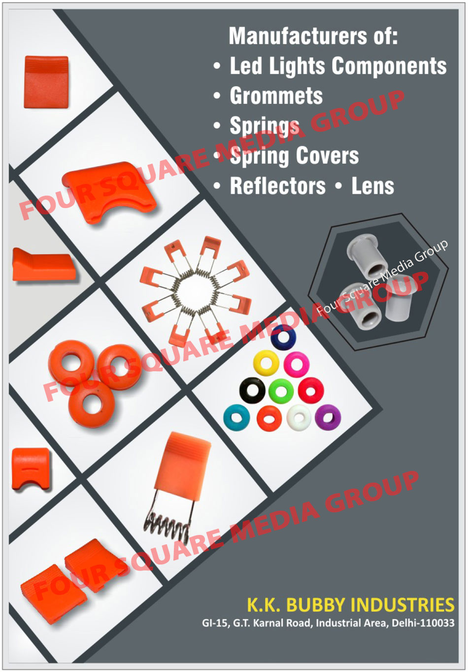 Led Light Components, Grommets, Springs, Spring Covers, Reflectors, Lenses