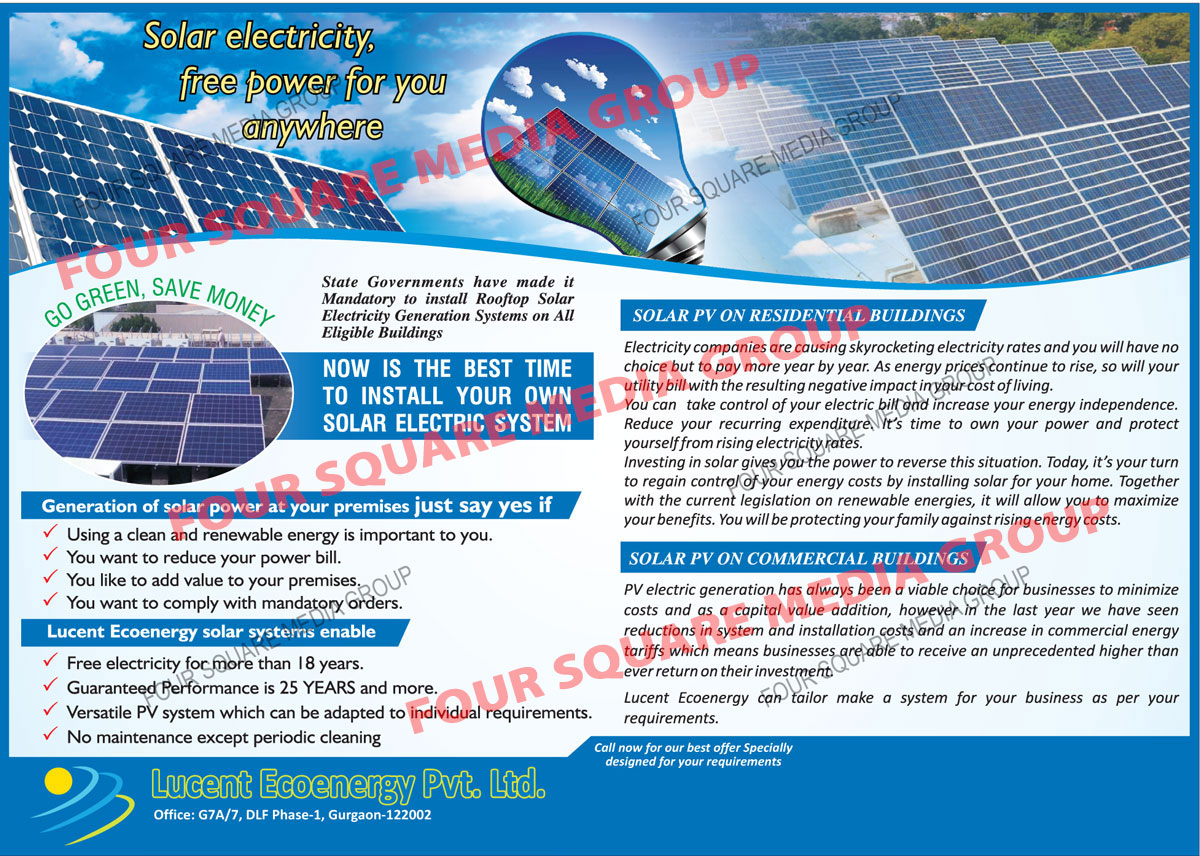 Solar PV Panels, Solar Rooftop Systems