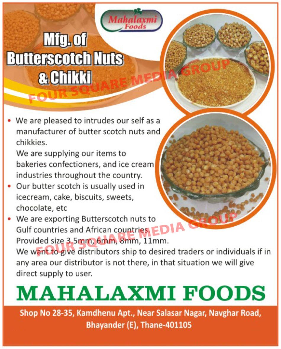 Butterscotch Nuts, Chikki