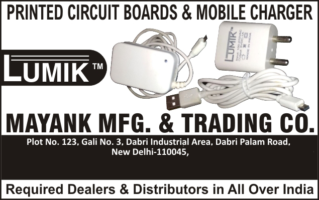Mobile Charger Kits, Printed Circuit Boards, Complete Die Making PCB, Led Bulbs, Led Lights, PTH Printed Circuit Boards, CNC Drilling, Single Sided PTH PCB, Double Sided PTH PCB, Electrical Parts, Mobile Chargers, Car Chargers, Mobile Accessories, Power Bank