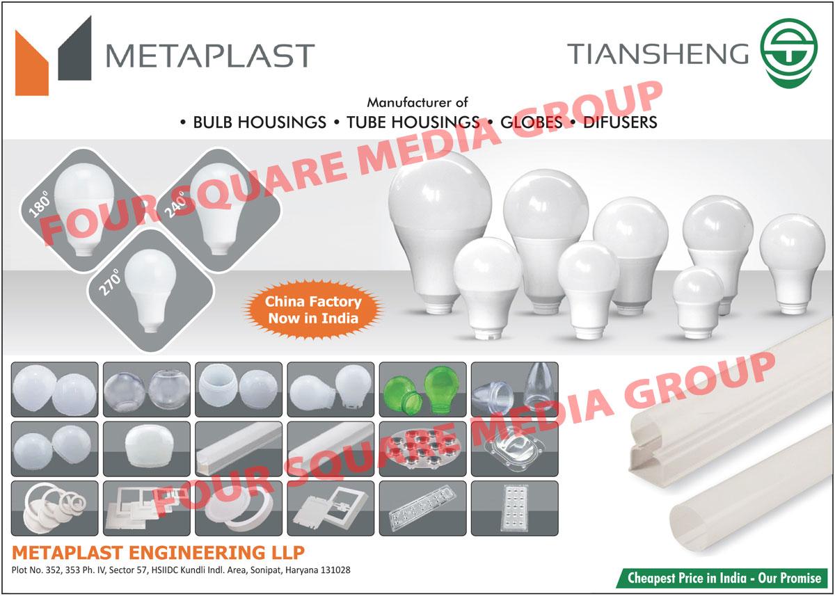 Led Housings, Led Light Housings, Led Bulb Housings, Led Tube Housings, Led Tube Light Housings, Globes, Difusers