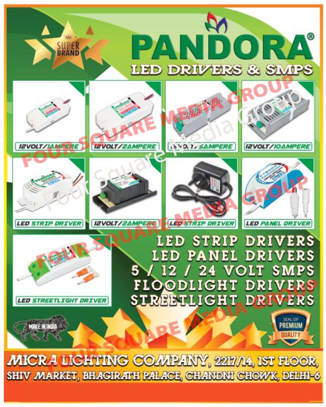 Led Drivers, SMPS, Led Strip Drivers, Led Panel Drivers, Led Street Light Drivers