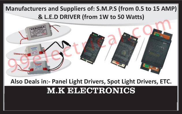SMPS, Switch Mode Power Supply, Led Drivers, Panel Light Drivers, Spot Light Drivers,Electrical Parts